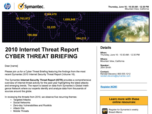 HP/Symantec Internet Threat Report