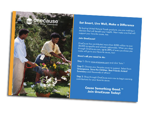 OneCause Postcard