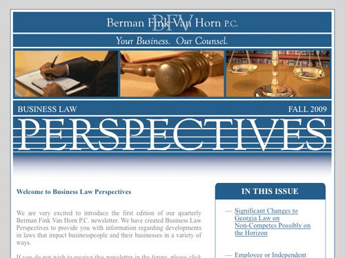 Business Law Perspectives