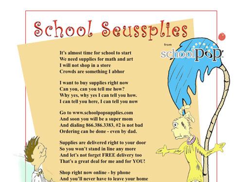 Schoolpop Seussupplies